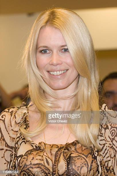 Claudia Schiffer during Fashion Festival Spring/Summer 2007 Liverpool Press Conference with Claudia Schiffer at Centro Comercial Santa Fe in Mexico...