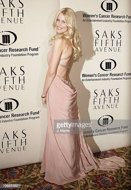 Claudia Schiffer during Saks Fifth Avenue's Unforgettable Evening Benefiting Women's Cancer Research Fund Arrivals at The Regent Beverly Wilshire...