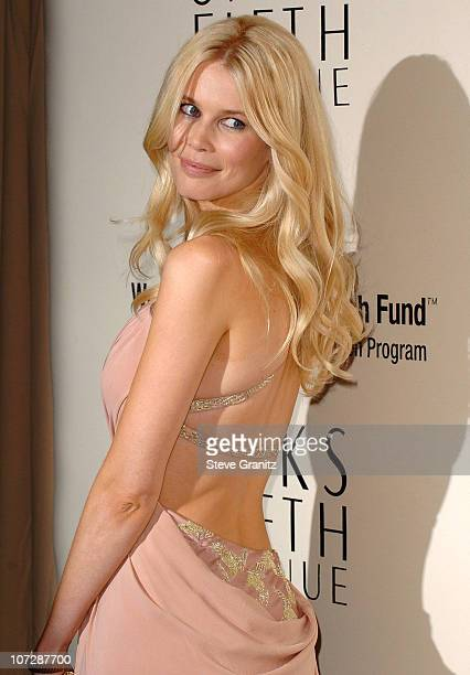 Claudia Schiffer during Saks Fifth Avenue's Unforgettable Evening Benefiting Women's Cancer Research Fund Arrivals at The Beverly Wilshire in Beverly...