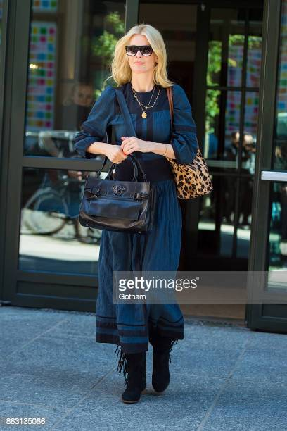 Claudia Schiffer is seen in SoHo on October 19 2017 in New York City