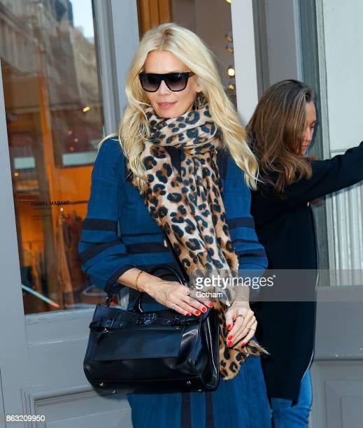 Claudia Schiffer is seen in Soho on October 19 2017 in New York City