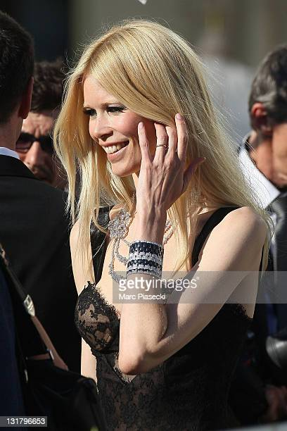 Claudia Schiffer is spotted at the 'Martinez' hotel on May 20 2011 in Cannes France