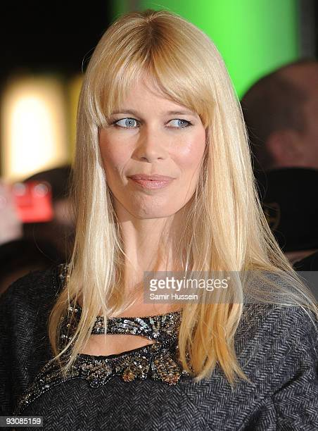 Claudia Schiffer poses at Harrods to promote the new Alberta Ferretti fragrance on November 4 2009 in London England
