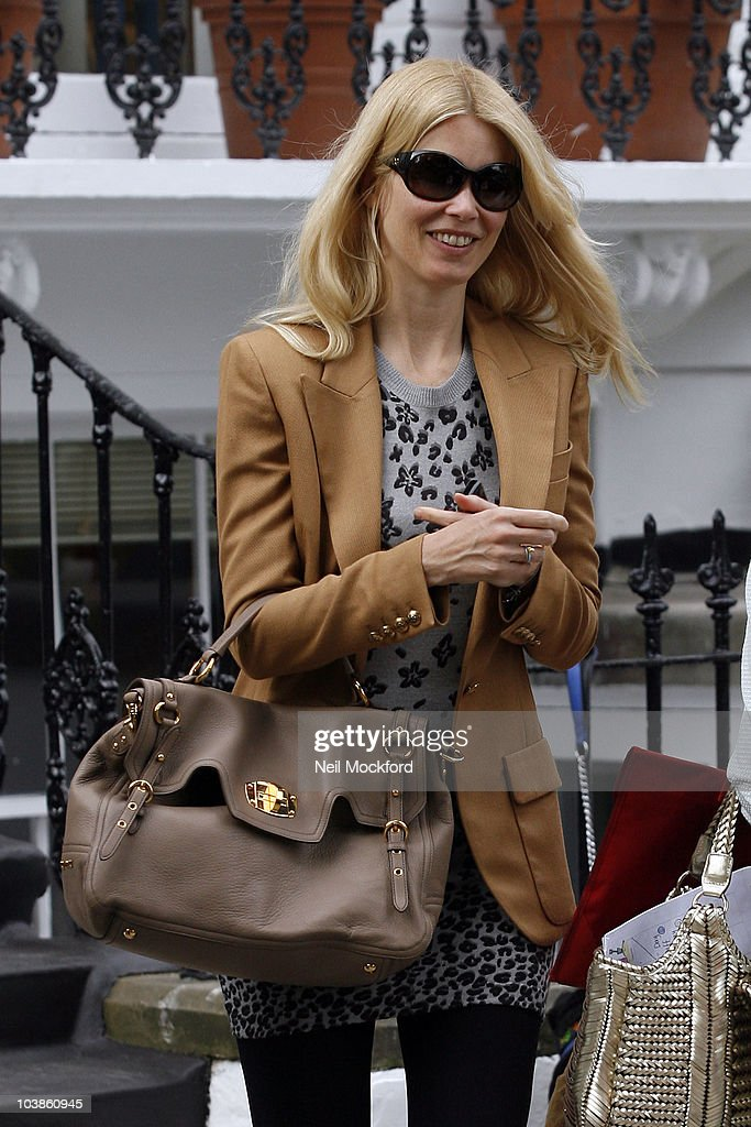 Claudia Schiffer sighted after dropping her child off at school on the first day of the term on September 6, 2010 in London, England.