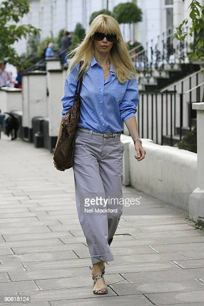 Claudia Schiffer sighting on September 11 2009 in London England