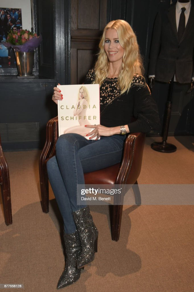 Claudia Schiffer Book Signing With MR PORTER & NET-A-PORTER At The Kingsman Store