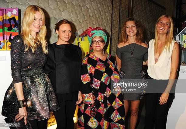 Claudia Schiffer Stella McCartney Camila Batmanghelidjh Gwyneth Paltrow and Natalia Vodianova attend Fashion's Night Out At Stella McCartney on...