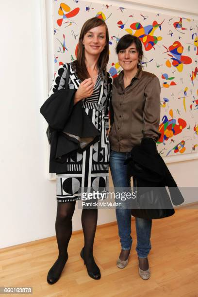 Claudia Scholz and Maruska Riva attend GALERIE GMURZYNSKA Celebrates the Opening of YVES KLEIN ROTRAUT Exhibition at Museo d'Arte Lugano on May 15...