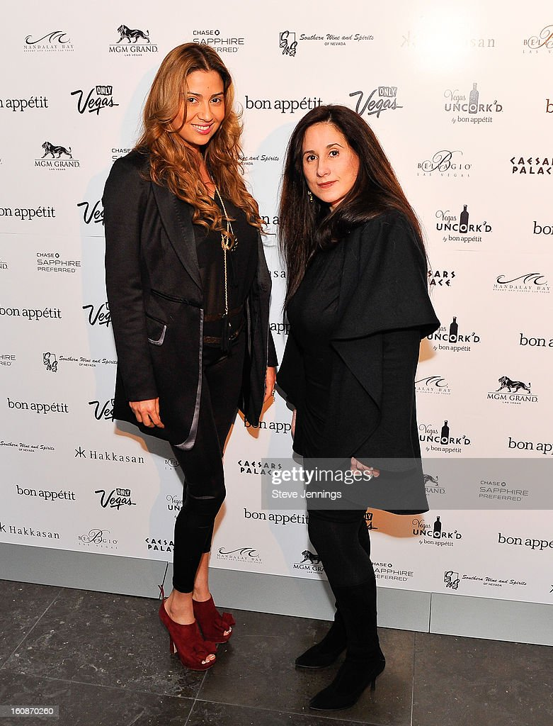 Claudia Suarez and Millie Hanley (L-R) attend the Exclusive Preview of the 2013 Vegas Uncork'd By Bon Appetit at One Kearny Street on February 6, 2013 in San Francisco, California.