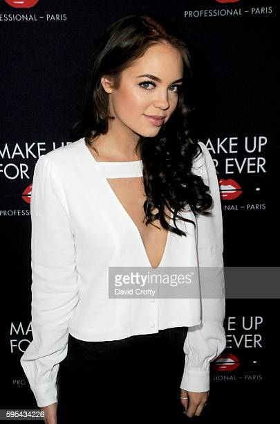 Claudia Sulewski attends the Make Up For Ever party at Siren Orange Studios on August 25 2016 in Los Angeles California