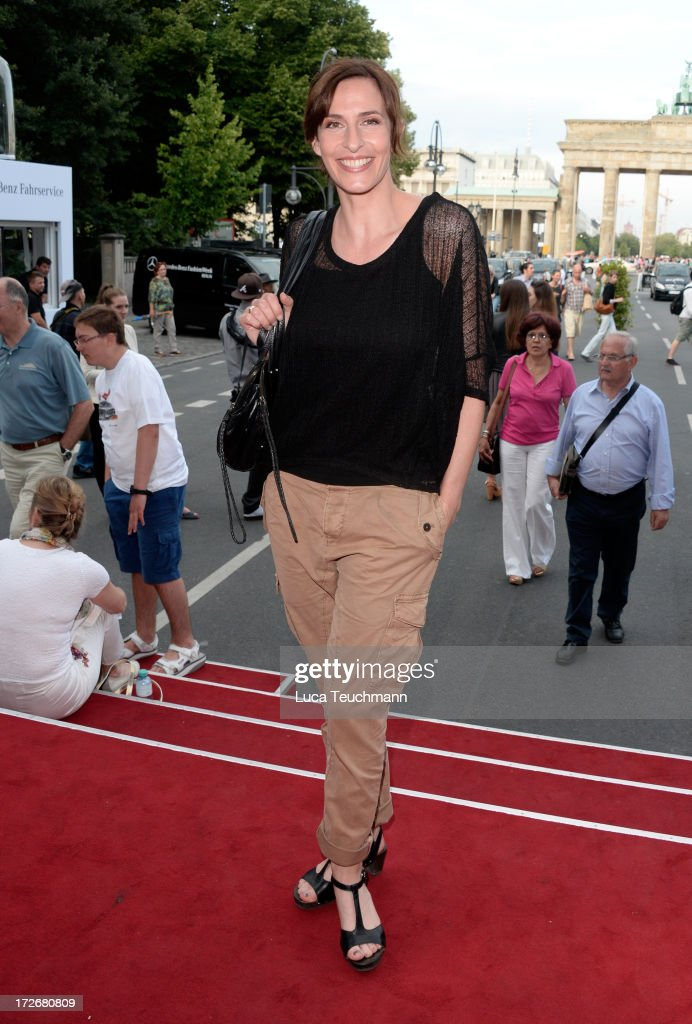 Claudia ten Hoevel attends the Irene Luft Show during the Mercedes-Benz Fashion Week Spring/Summer 2014 at Brandenburg Gate on July 4, 2013 in Berlin, Germany.