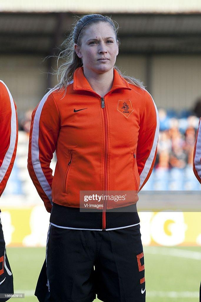 Claudia van den Heiligenberg of Holland during the Women's international friendly match between Netherlands and Wales, at Tata steel stadium on November 25, 2012 in Velzen-Zuid, Netherlands.