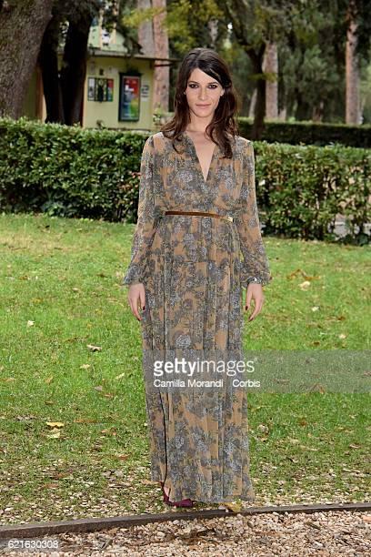 Claudia Vismara attends the ' Rocco Schiavone' Tv movie photocall on November 7 2016 in Rome Italy