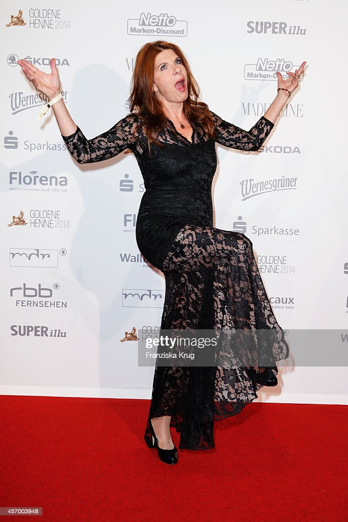Claudia Wenzel attends Madeleine at Goldene Henne 2014 on October 10, 2014 in Leipzig, Germany.
