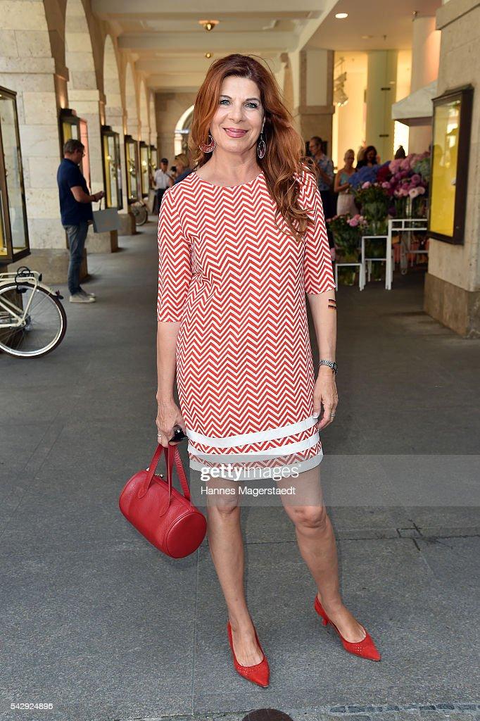 Claudia Wenzel during the 'Sommerfest der Agenturen' at Hugo's on June 25, 2016 in Munich, Germany.