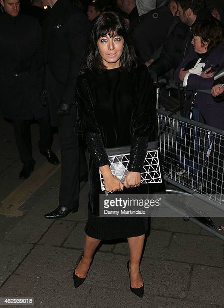 Claudia Winkleman and Chris Thykier attends the Charles Finch CHANEL PreBAFTA party at Annabel's on February 7 2015 in London England