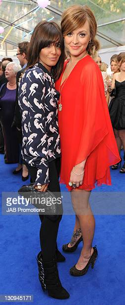 Claudia Winkleman and Fearne Cotton attends the Glamour Women of the Year awards at Berkeley Square Gardens on June 8 2010 in London England