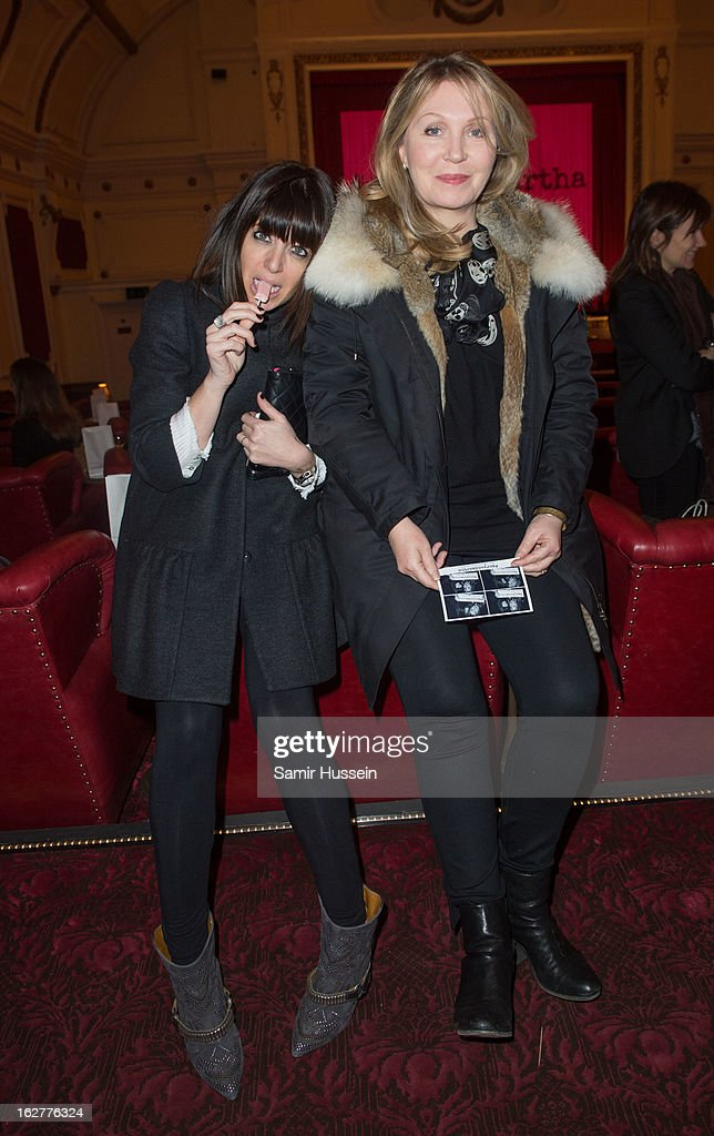 <a gi-track='captionPersonalityLinkClicked' href=/galleries/search?phrase=Claudia+Winkleman&family=editorial&specificpeople=224036 ng-click='$event.stopPropagation()'>Claudia Winkleman</a> and <a gi-track='captionPersonalityLinkClicked' href=/galleries/search?phrase=Kirsty+Young&family=editorial&specificpeople=221440 ng-click='$event.stopPropagation()'>Kirsty Young</a> (R) attend the private screening of Mary & Martha, hosted by Emma Freud at the Electric Cinema on February 26, 2013 in London, England. The film, by Richard Curtis, which airs on BBC1 on Friday 1st March at 8.30pm stars Hilary Swank as Mary and Brenda Blethyn as Martha, an American and and Englishwoman who have little in common apart from the tragedy of losing a son to malaria, that unexpectedly brings them together.