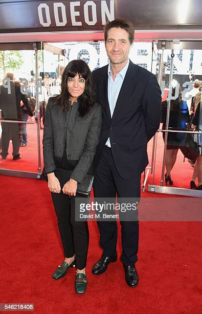 Claudia Winkleman and Kris Thykier arrive for the European Premiere of 'Jason Bourne' at Odeon Leicester Square on July 11 2016 in London England