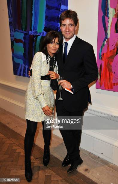 Claudia Winkleman and Kris Thykier attend the Royal Academy Summer Exhibiton 2010 VIP preview at the Royal Academy of Arts on June 9 2010 in London...