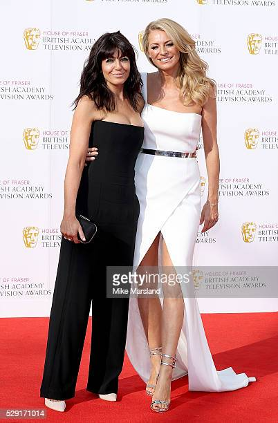 Claudia Winkleman and Tess Daly arrive for the House Of Fraser British Academy Television Awards 2016 at the Royal Festival Hall on May 8 2016 in...