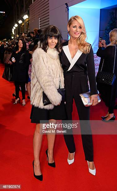 Claudia Winkleman and Tess Daly attend the National Television Awards at 02 Arena on January 21 2015 in London England