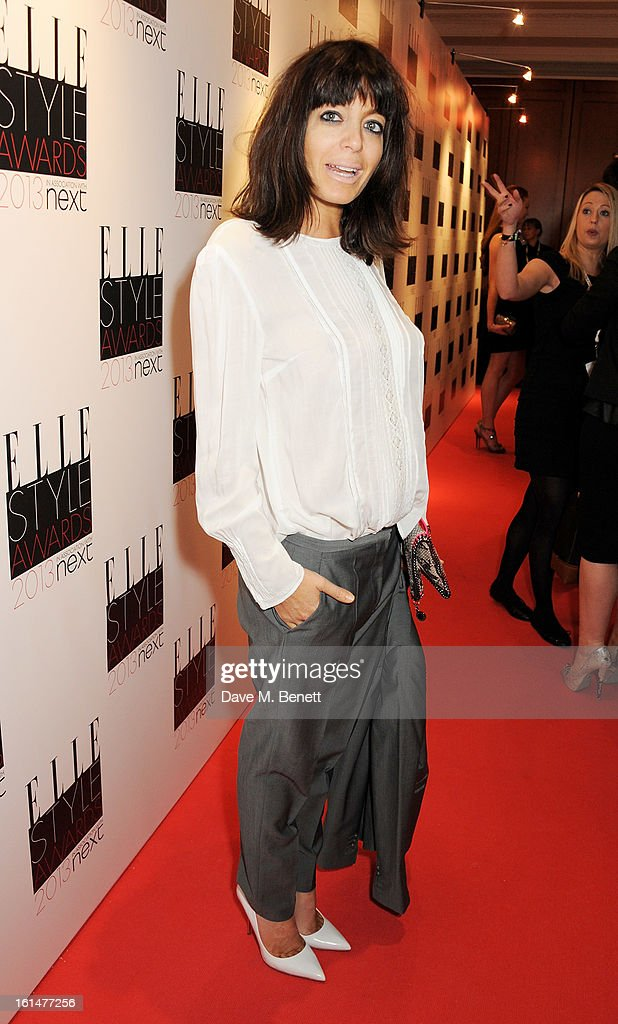 Claudia Winkleman arrives at the Elle Style Awards at The Savoy Hotel on February 11, 2013 in London, England.