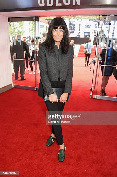 Claudia WInkleman arrives for the European Premiere of 'Jason Bourne' at Odeon Leicester Square on July 11 2016 in London England