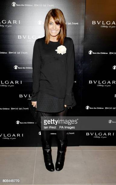 Claudia Winkleman arriving at the Vogue Bvlgari 125th Anniversary Party drinks reception in aid of Save The Children at the Saatchi Gallery Kings...