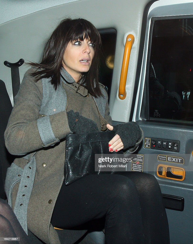 Claudia Winkleman at Little House restaurant on March 20, 2013 in London, England.