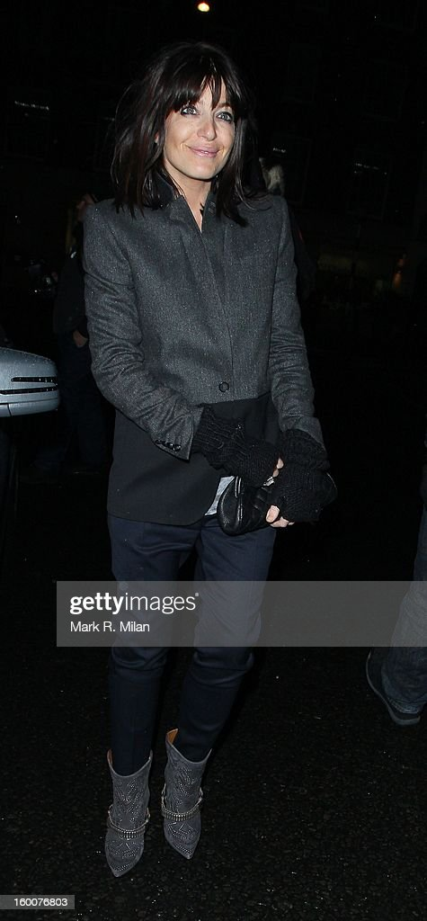 Claudia Winkleman at the Little House Mayfair on January 25, 2013 in London, England.