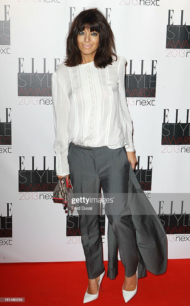Claudia Winkleman attends Elle Style Awards Outside Arrivals on February 11, 2013 in London, England.