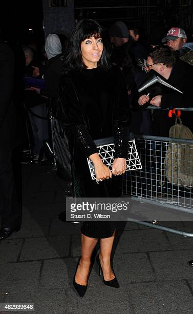 Claudia Winkleman attends the Charles Finch CHANEL PreBAFTA party at Annabel's on February 7 2015 in London England