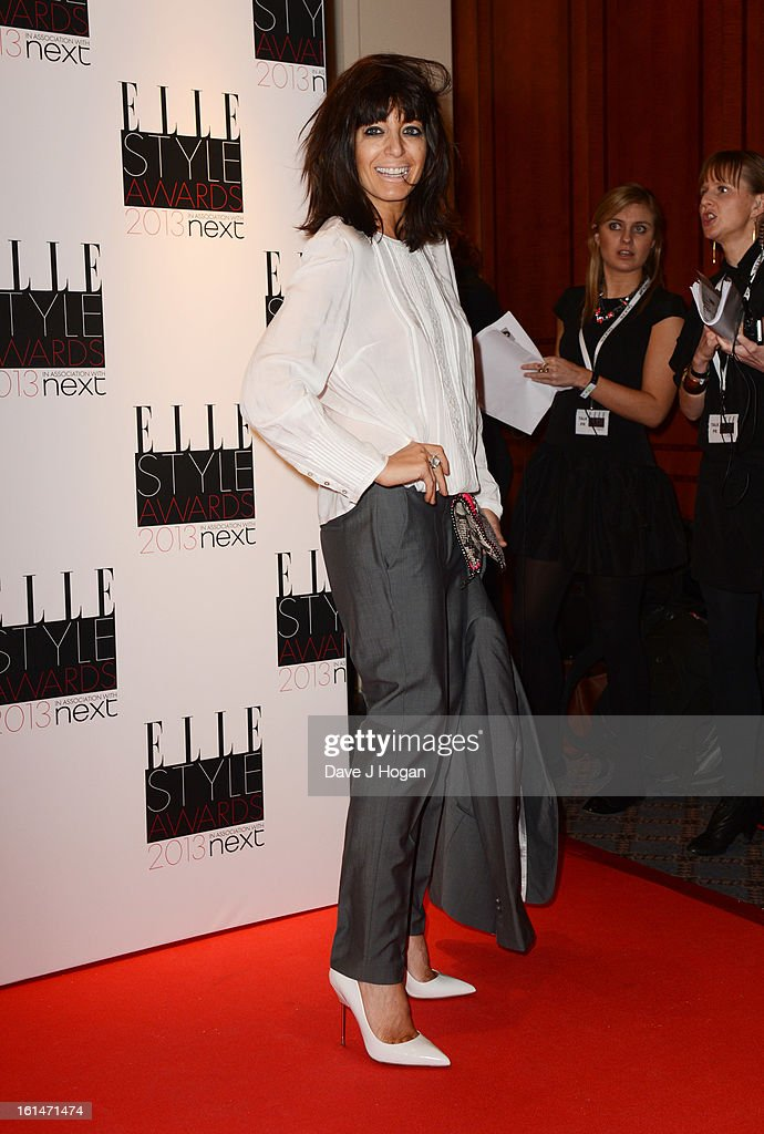 Claudia Winkleman attends The Elle Style Awards 2013 at The Savoy Hotel on February 11, 2013 in London, England.