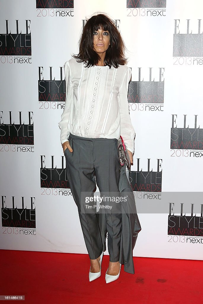 Claudia Winkleman attends the Elle Style Awards at Savoy Hotel on February 11, 2013 in London, England.