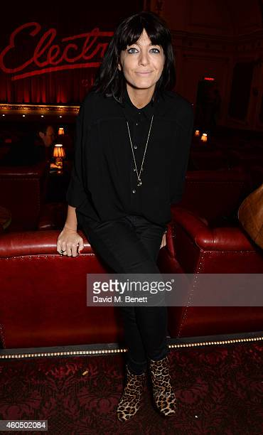 Claudia Winkleman attends the screening of 'Trash' hosted by Claudia Winkleman Emma Freud and Laura Bailey at The Electric Cinema on December 15 2014...