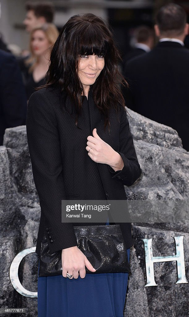 Claudia Winkleman attends the UK premiere of 'Noah' held at the Odeon Leicester Square on March 31, 2014 in London, England.
