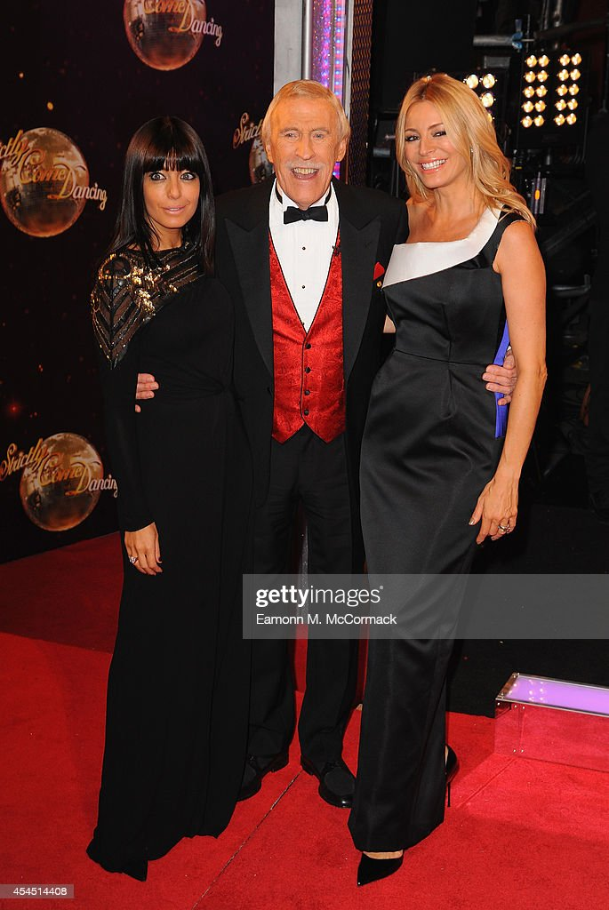 <a gi-track='captionPersonalityLinkClicked' href=/galleries/search?phrase=Claudia+Winkleman&family=editorial&specificpeople=224036 ng-click='$event.stopPropagation()'>Claudia Winkleman</a>, <a gi-track='captionPersonalityLinkClicked' href=/galleries/search?phrase=Bruce+Forsyth&family=editorial&specificpeople=158119 ng-click='$event.stopPropagation()'>Bruce Forsyth</a> and <a gi-track='captionPersonalityLinkClicked' href=/galleries/search?phrase=Tess+Daly&family=editorial&specificpeople=211541 ng-click='$event.stopPropagation()'>Tess Daly</a> attend the red carpet launch for 'Strictly Come Dancing' 2014 at Elstree Studios on September 2, 2014 in Borehamwood, England.
