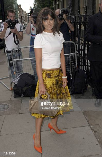 Claudia Winkleman during Tatler Summer Party June 29 2005 at Home House in London Great Britain