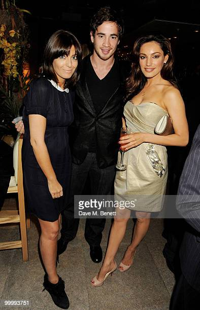 (L-R) Claudia Winklemann, Danny Cipriani and Kelly Brook attend the launch party for the opening of TopShop's Knightsbridge store at Zuma on May 19, 2010 in London, England.
