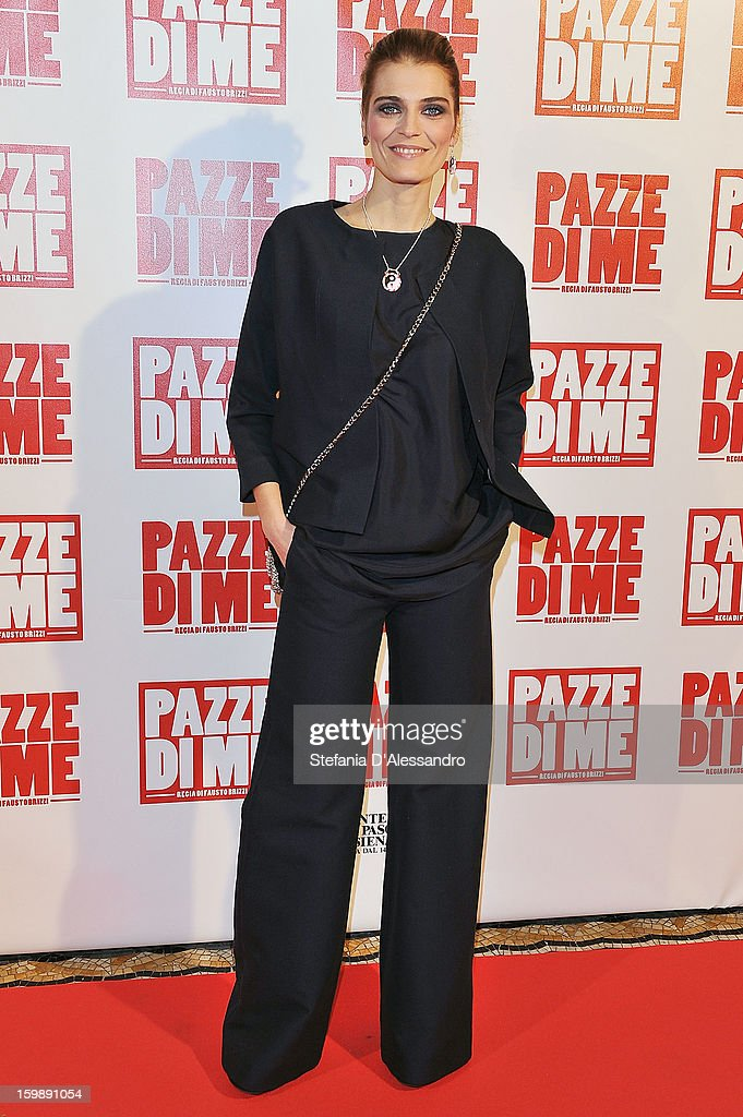 Claudia Zanella attends 'Pazze di Me' Premiere at Cinema Odeon on January 22, 2013 in Milan, Italy.