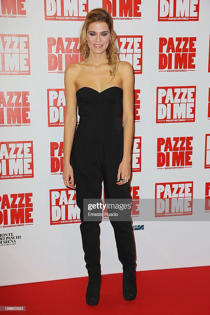 Claudia Zanella attends the 'Pazze di Me' premiere at Teatro Sistina on January 21, 2013 in Rome, Italy.