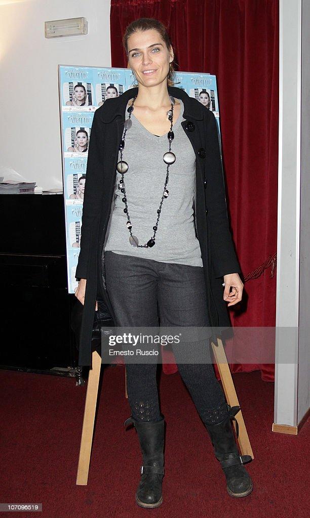 Claudia Zanelle attends the 'A Letto Dopo Il Carosello' theatre premiere at Teatro 7 on November 23, 2010 in Rome, Italy.