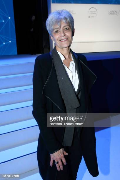 Claudie Haignere attends the '2017 L'Oreal UNESCO for Women in Science' 19th Awards Ceremony at Maison de la Mutualite on March 23 2017 in Paris...