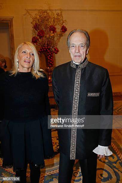 Claudie Stolz and Monseigneur le Comte de Paris attend The Children for Peace Gala at Cercle Interallie on December 12 2014 in Paris France