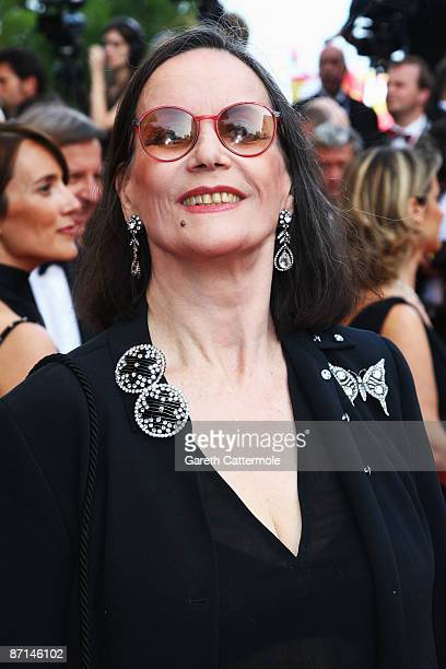 Claudine Auger attends the 'Up' Premiere at the Palais De Festival during the 62nd International Cannes Film Festival on May 13 2009 in Cannes France