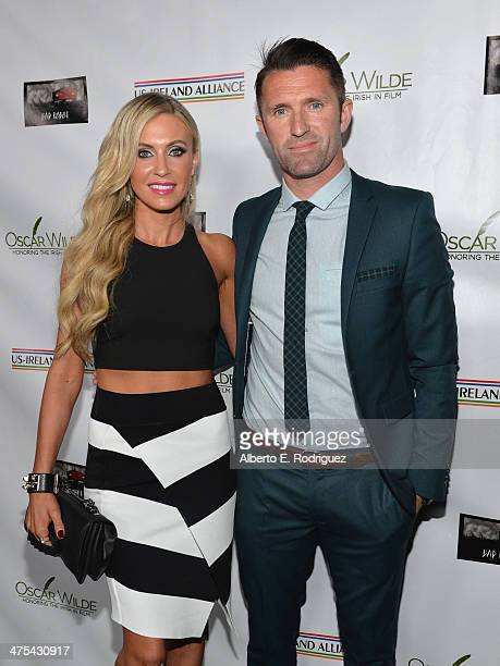 Claudine Keane and Football Player Robbie Keane attend the 9th Annual 'Oscar Wilde Honoring The Irish In Film' PreAcademy Awards event at Bad Robot...