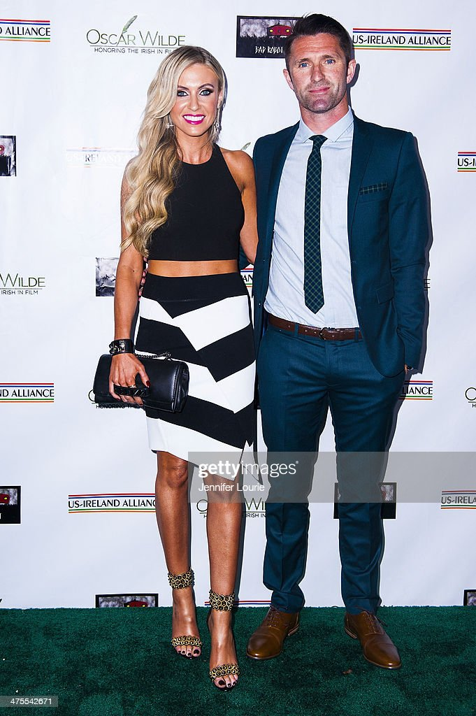 Claudine Keane and football player Robbie Keane attend the 9th Annual 'Oscar Wilde: Honoring The Irish In Film' Pre-Academy Awards event at Bad Robot on February 27, 2014 in Santa Monica, California.
