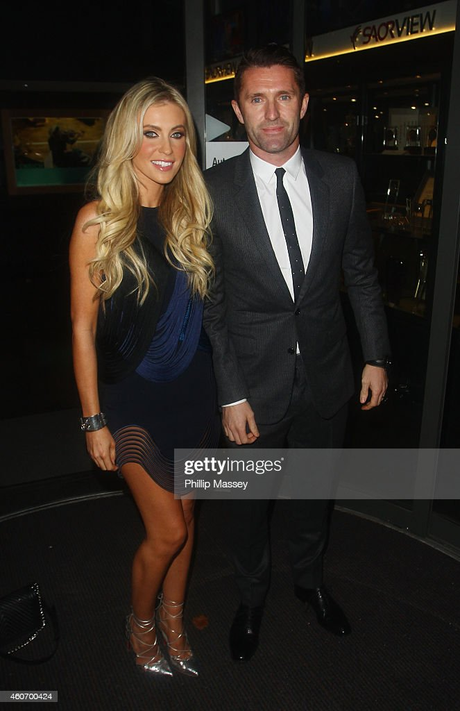 Claudine Keane and <a gi-track='captionPersonalityLinkClicked' href=/galleries/search?phrase=Robbie+Keane&family=editorial&specificpeople=171824 ng-click='$event.stopPropagation()'>Robbie Keane</a> attend The Late Late Show on December 19, 2014 in Dublin, Ireland.