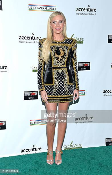 Claudine Keane attends the Oscar Wilde Awards at Bad Robot on February 25 2016 in Santa Monica California